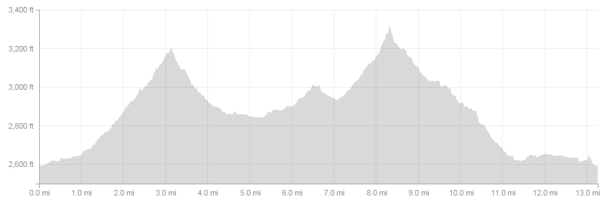 Zeitgeist Half Marathon elevation profile (from my Garmin)