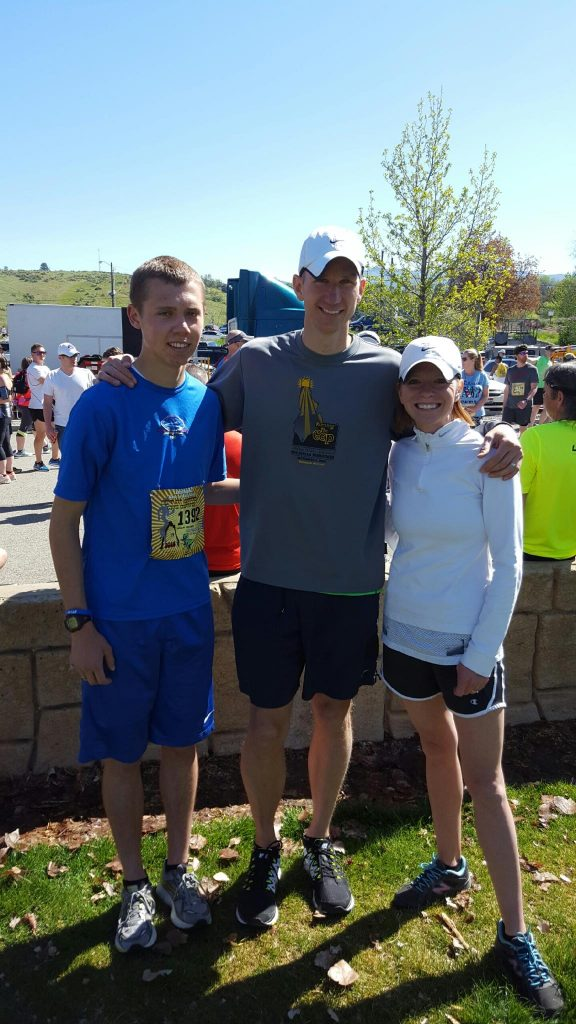 Adam, Cyndi, and I before beginning the Race to Robie Creek.