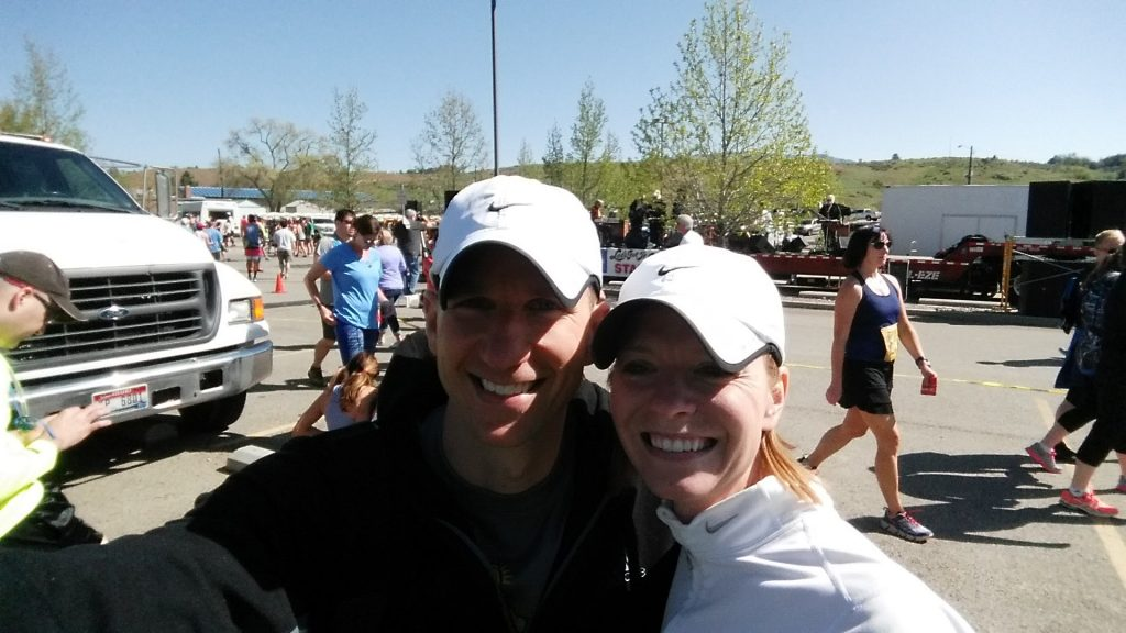 Cyndi and I taking a selfie before the Race to Robie Creek