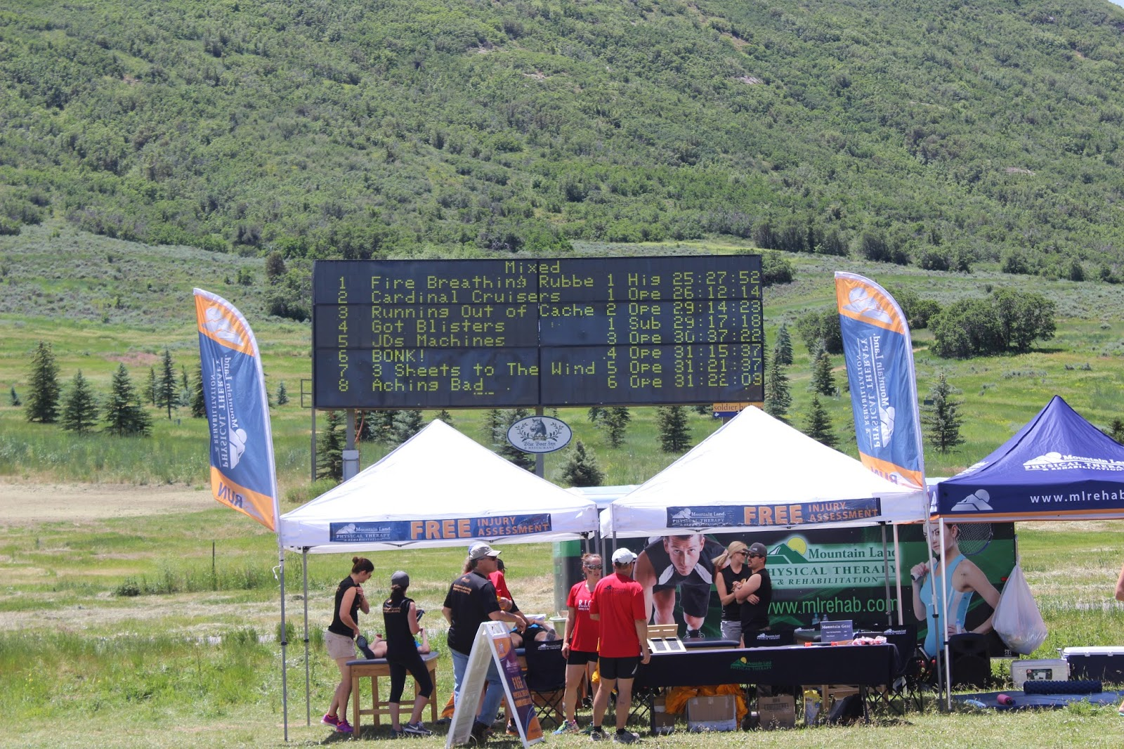 Ragnar Wasatch Back Scoreboard