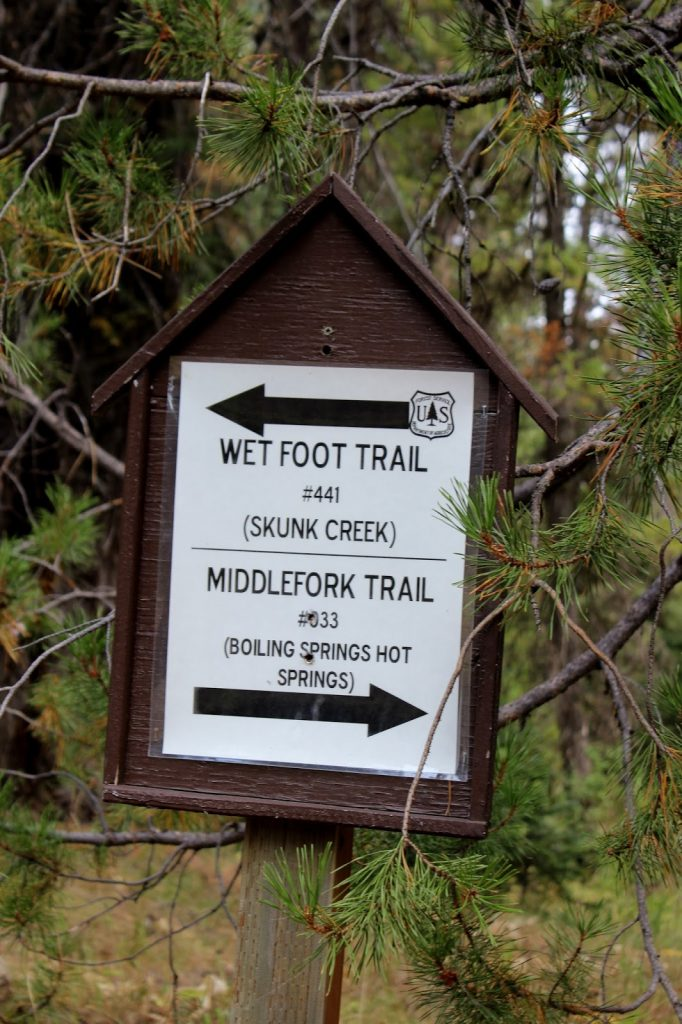 Middlefork Trail Hot Springs Backpacking - Sign