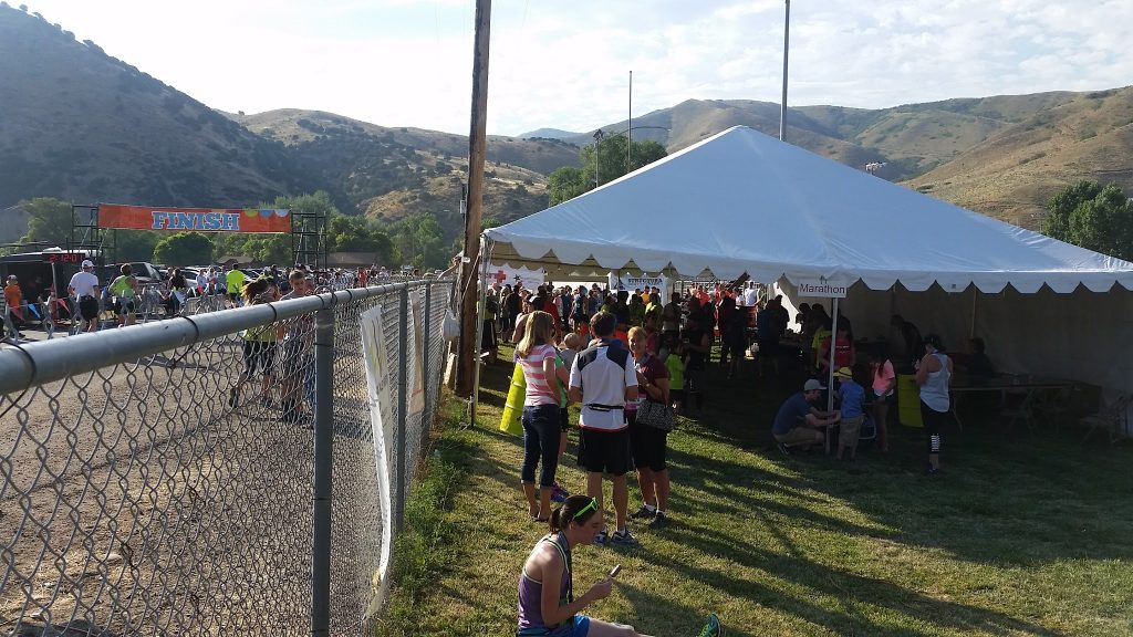 Morgan Valley Marathon finish line and post race party