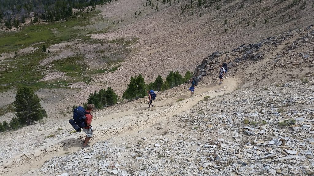 Switchbacks into Antz Basin