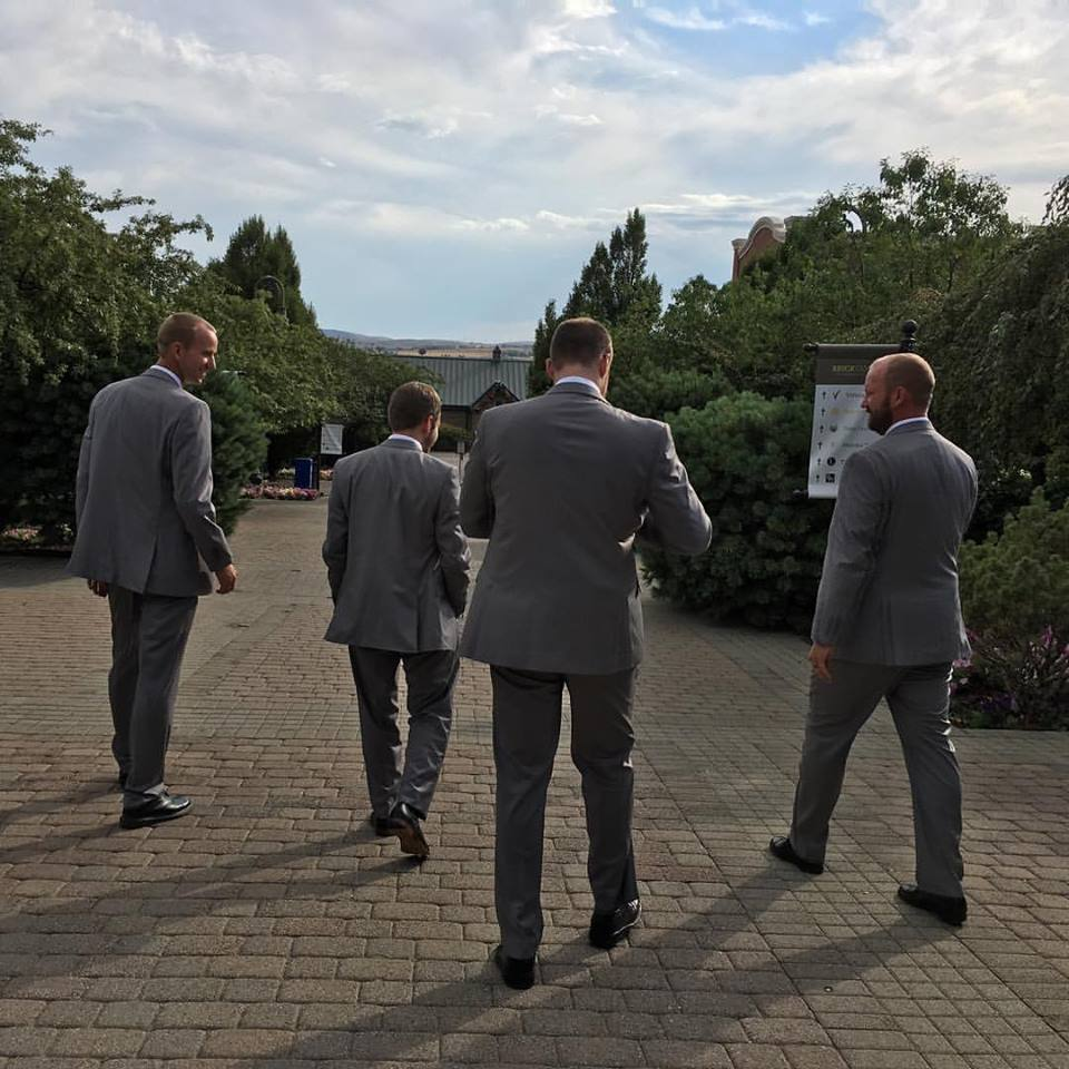 After the Morgan Valley Marathon I went to be a groomsman at my brother's wedding.