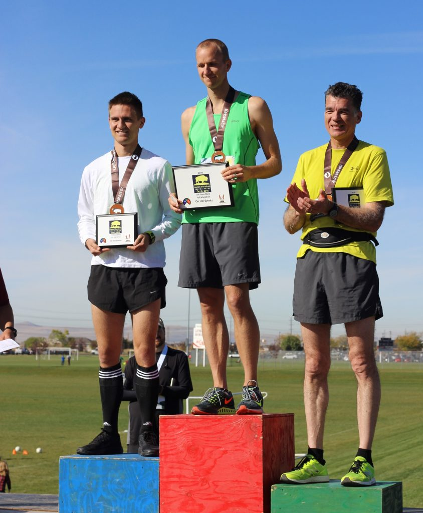 The Layton Marathon awards podium
