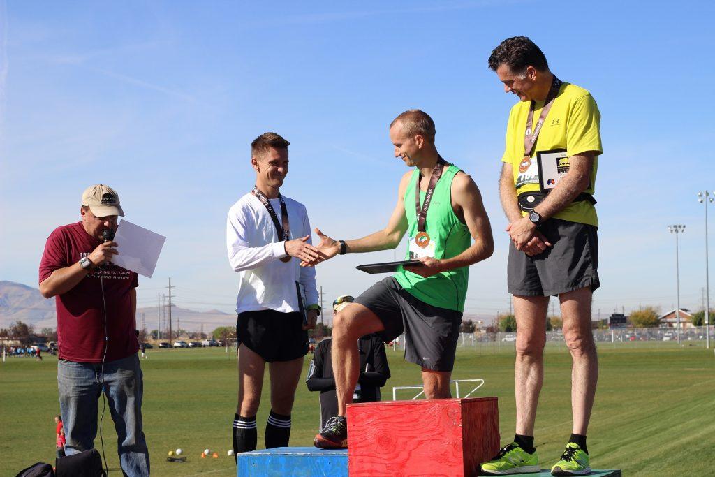 Layton Marathon podium