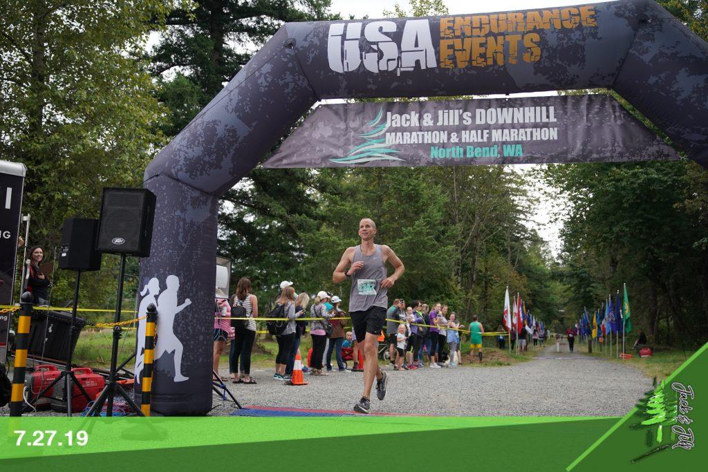 Finishing Jack and Jill's Downhill Marathon