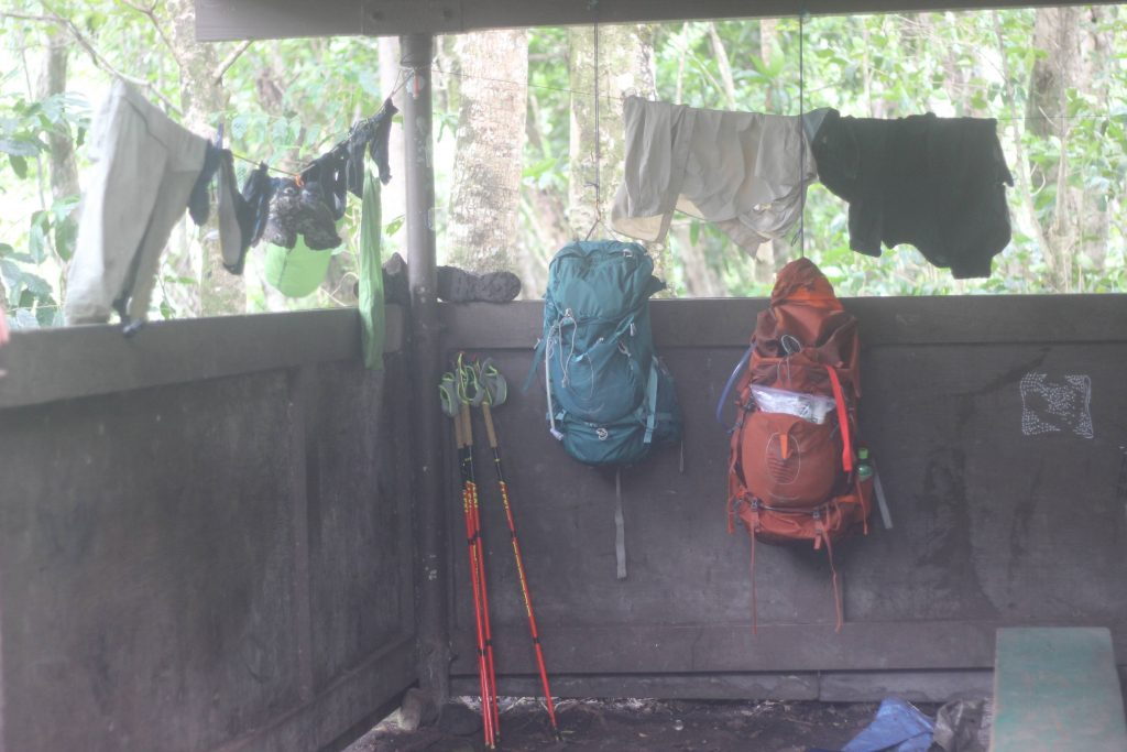 Drying Gear at Hanakoa