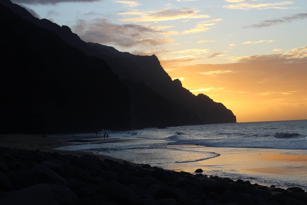 Kalalau Beach at sunset