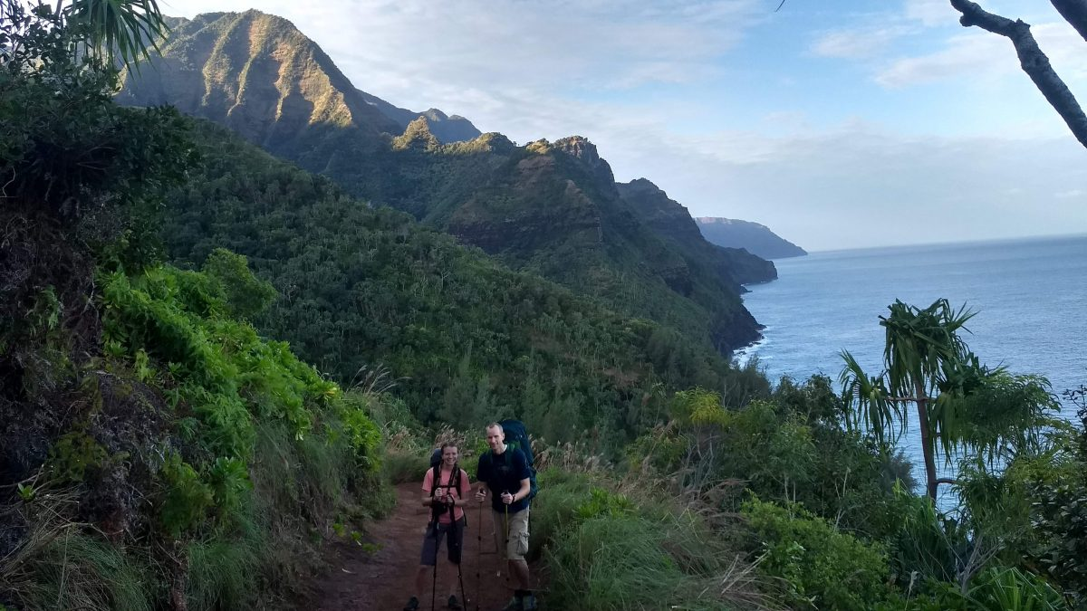 Blake and Cyndi on the Kalalau Trail