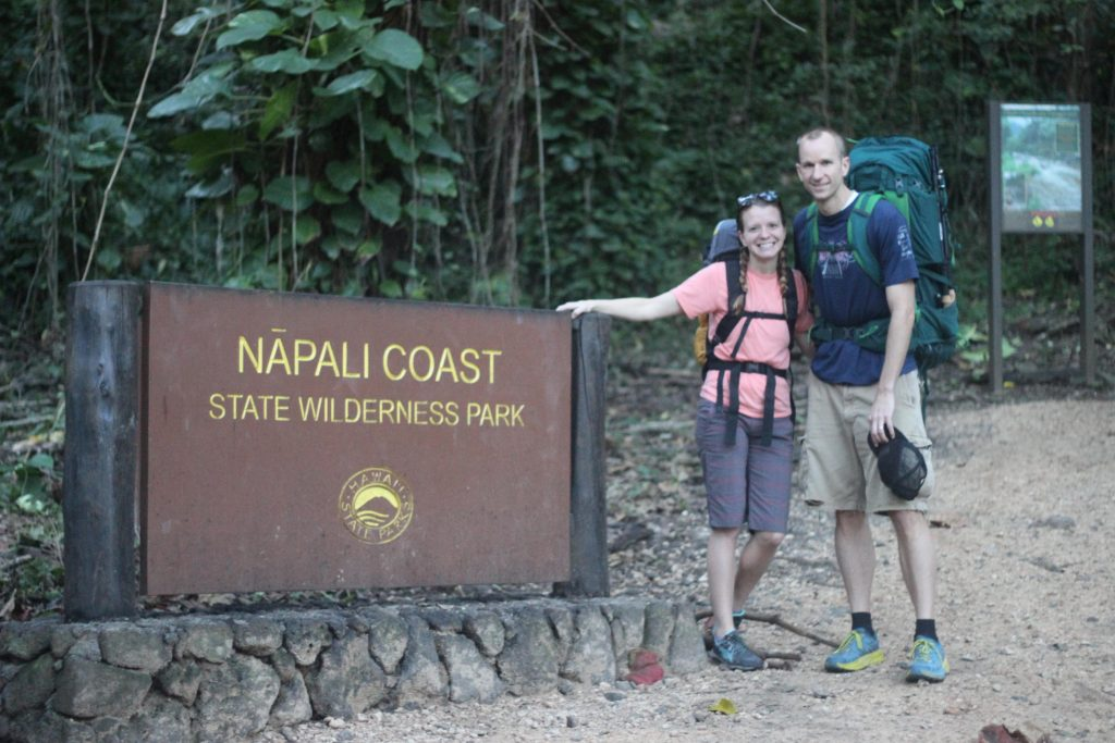 Napali Coast sign